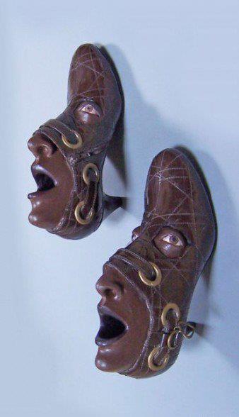 papas y zapatos con cara, arte que t va a dejar boquiabierto