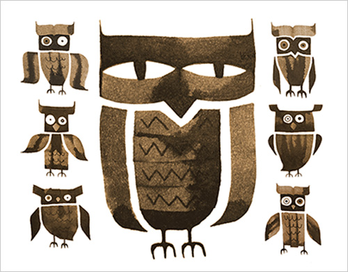 My Owl Barn 60 Seconds Calligraphy Animals By Andrew Fox