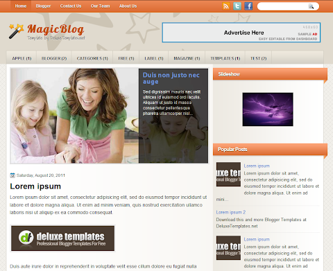 MagicBlog Blogger Theme