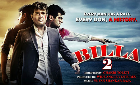 Poster Of Billa 2 (2012) In hindi dubbed 300MB Compressed Small Size Pc Movie Free Download Only At world4free.cc