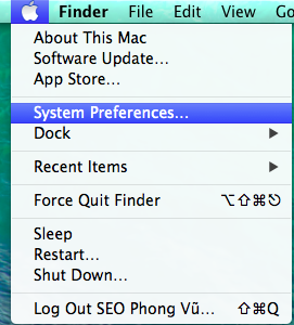 System Preferences trong MAC OS