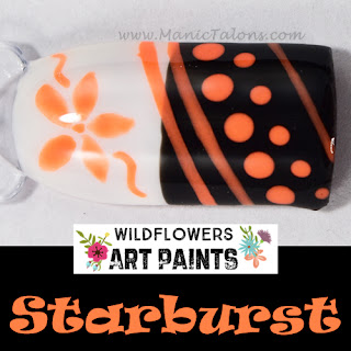 Wildflowers Nail Art Paint Starburst