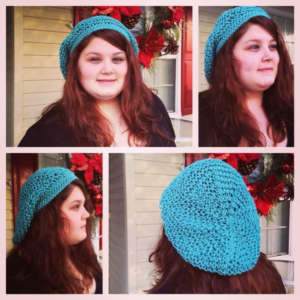 Bizzy Crochet: NEW FREE Pattern! Rastafari Slouch Hybrid Hat- Knit ...