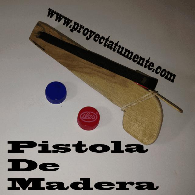 Armas de madera caseras tapas de refresco