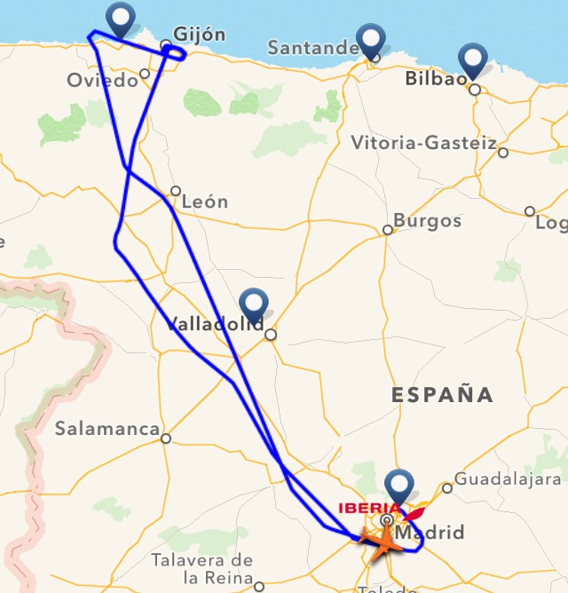 Dos vuelos de iberia procedentes de madrid desviados for Oficinas de iberia en madrid