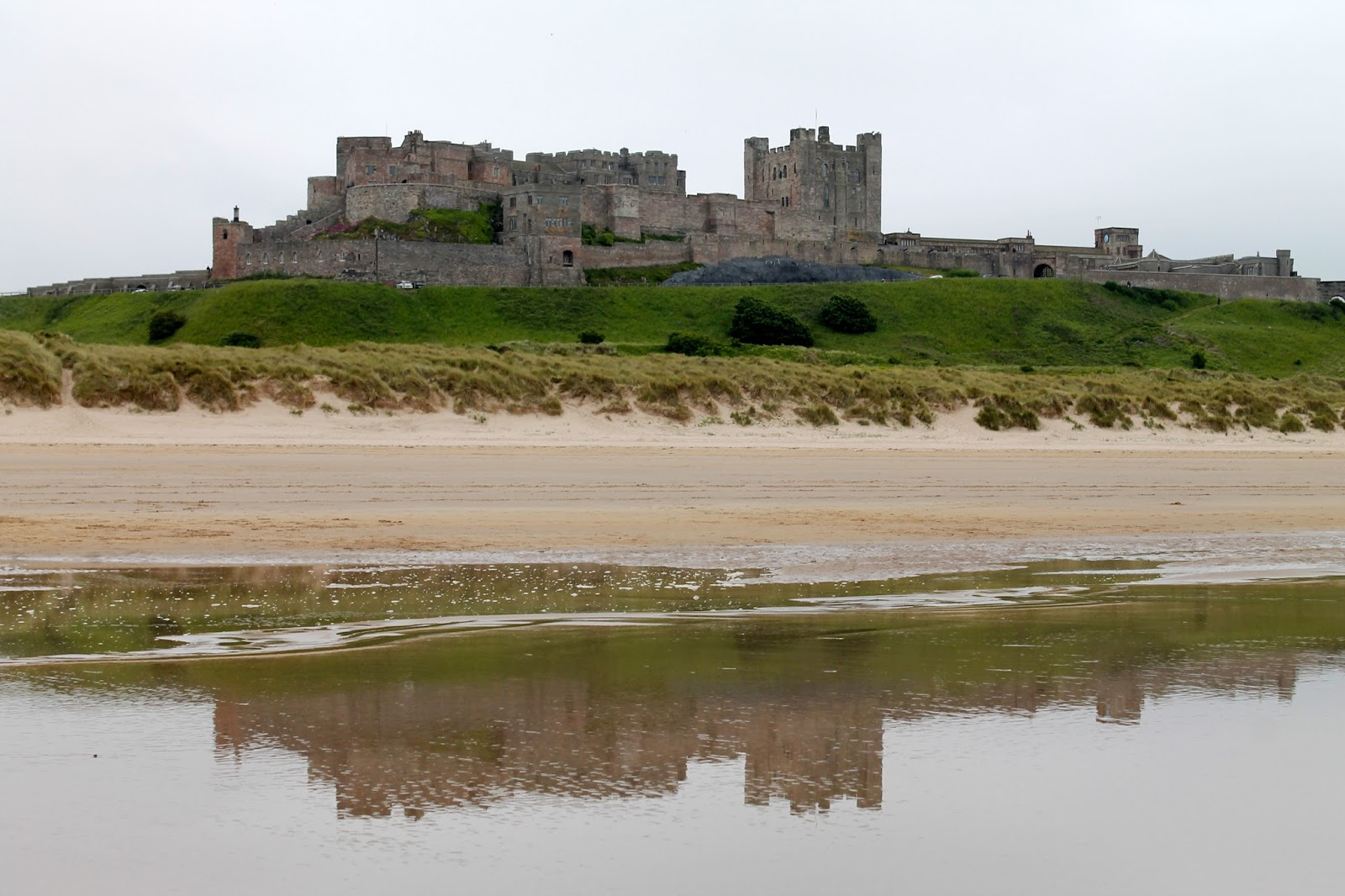 all the gear but no idea  bamburgh castle from seahouses
