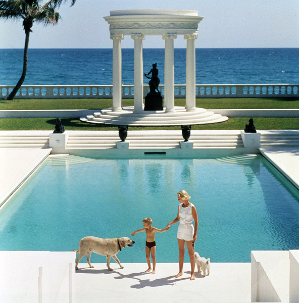 roman style swimming pool in palm beach early 1970s - Roman Swimming Pool Designs