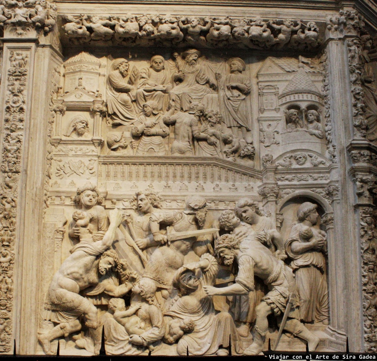 Trascoro Catedral Ávila Matanza inocentes