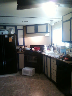 Mobile Home Remodeling    on And This Is Right As We Started To Do The Remodel  Creamy White And
