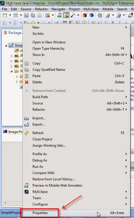 How to change Application's Context root using myeclipse 2014
