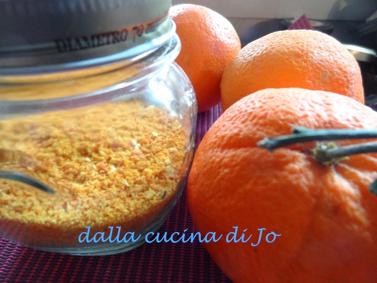 polvere d'arance essiccate