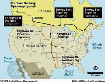 Energy East Pipeline (Graphic Credit: Paul Horn/InsideClimate News) Click to enlarge.