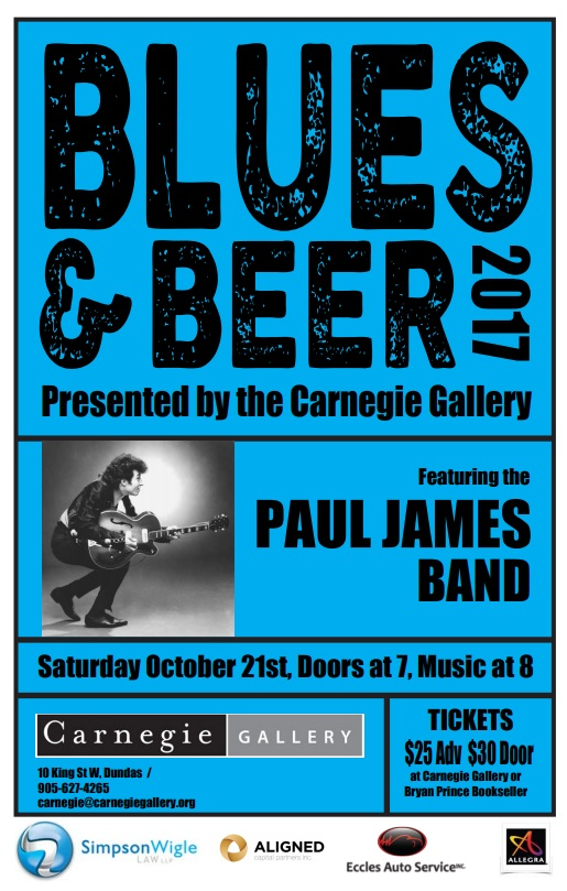 Oct 21 - Paul James Band in Dundas