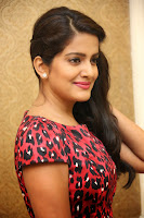 Vishakha Sing Beutiful Smiling Pics in Short Dress