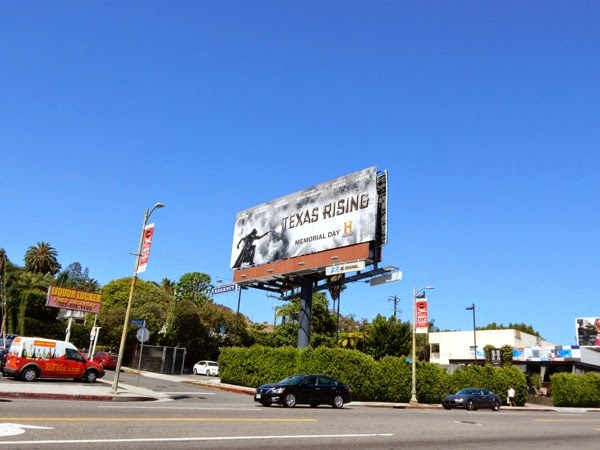 Texas Rising series premiere billboard