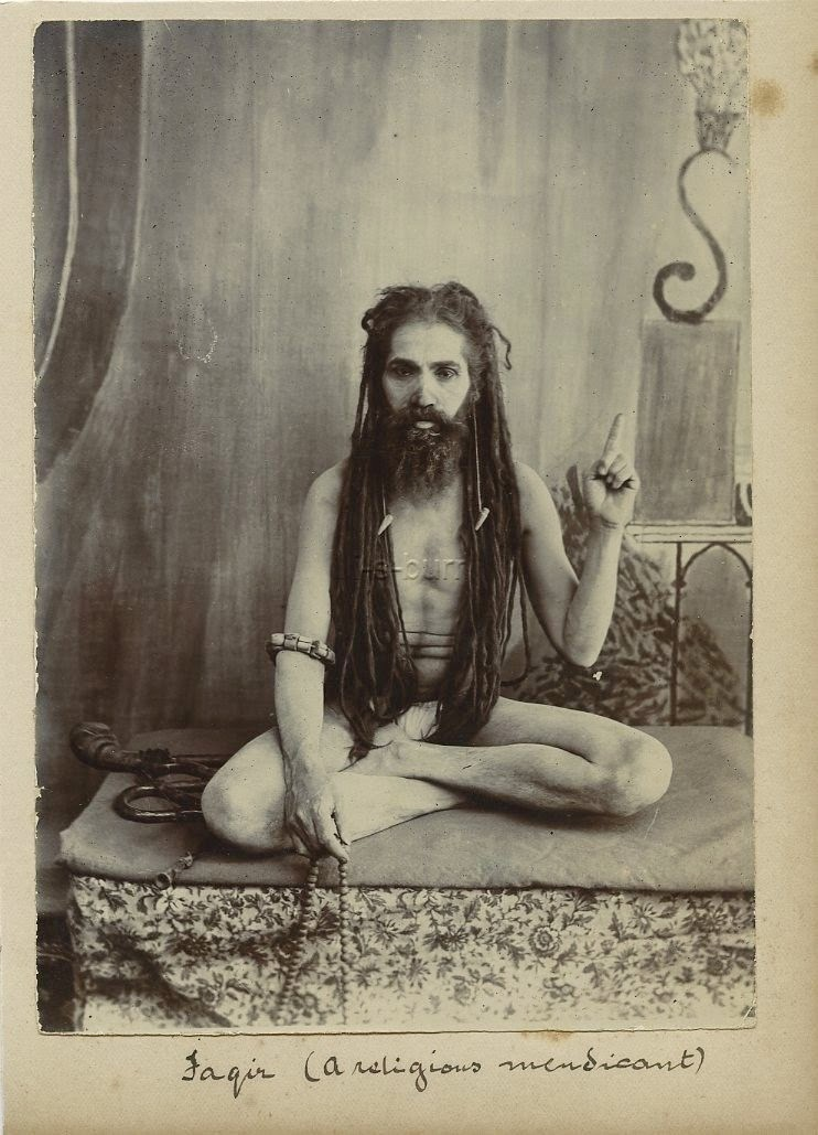 Vintage Photograph of an Indian Sadhu (Religious Ascetic) - c1900's