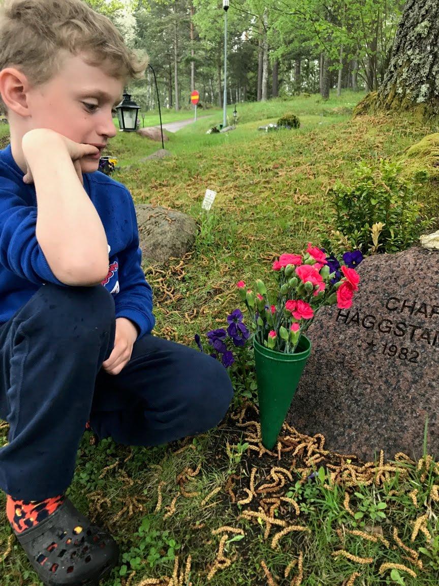 Gösta vid Carros grav