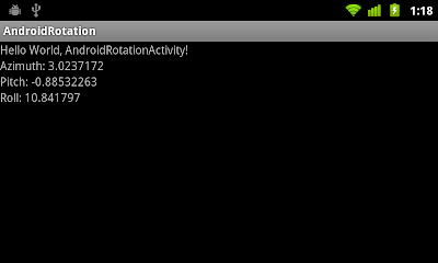 Detect Android device rotation, using Accelerometer sensor