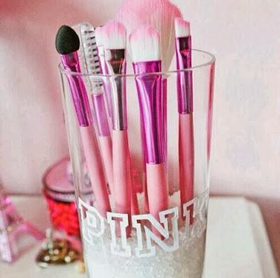 Pincéis Maquilhagem Rosa