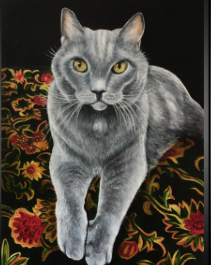 Cats in Clothes  Painting - Commission