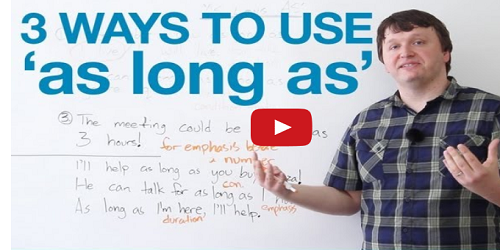 how to use as long as in a sentence
