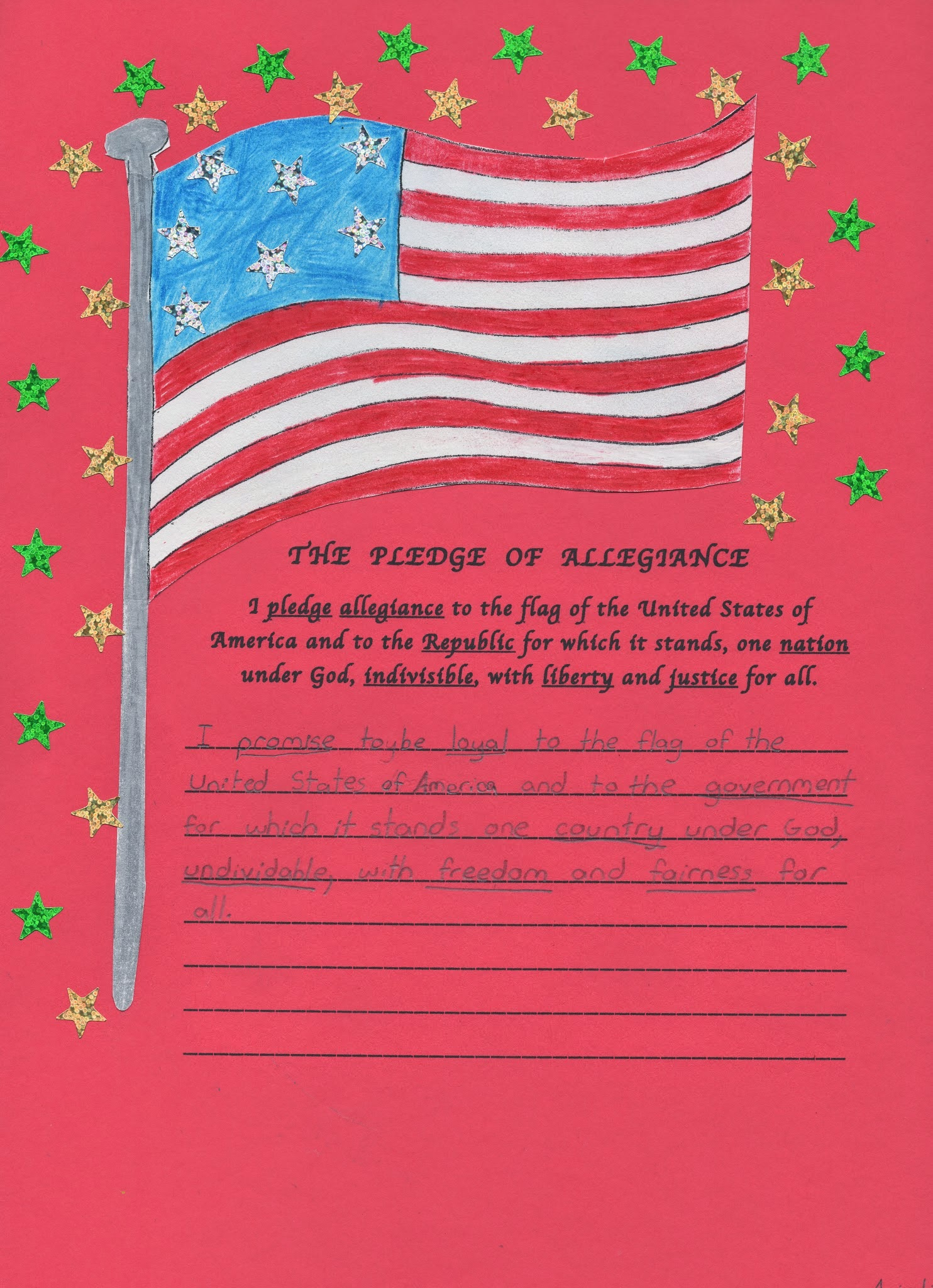 the meaning behind the united states pledge of allegiance 290 the pledge of allegiance and its interpretations a temporary settlement the elk grove school district, supported by the attorney general of california, appealed to the supreme court of the united states to review the decision of the 9th circuit court.
