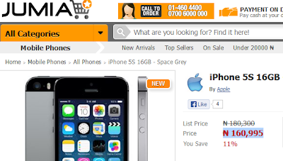 Buy iPhone 5S in Nigeria