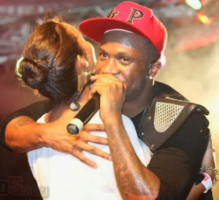 peter okoye kissing stage tanzania