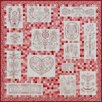 Block of the Month - Scandinavian Rose