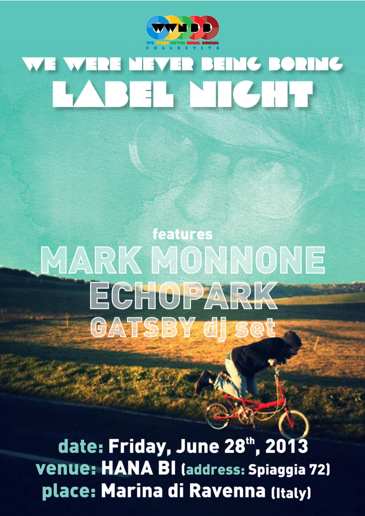 MARK MONNONE + ECHOPARK + GATSBY DJ SET @ HANA-BI (WWNBB label night)
