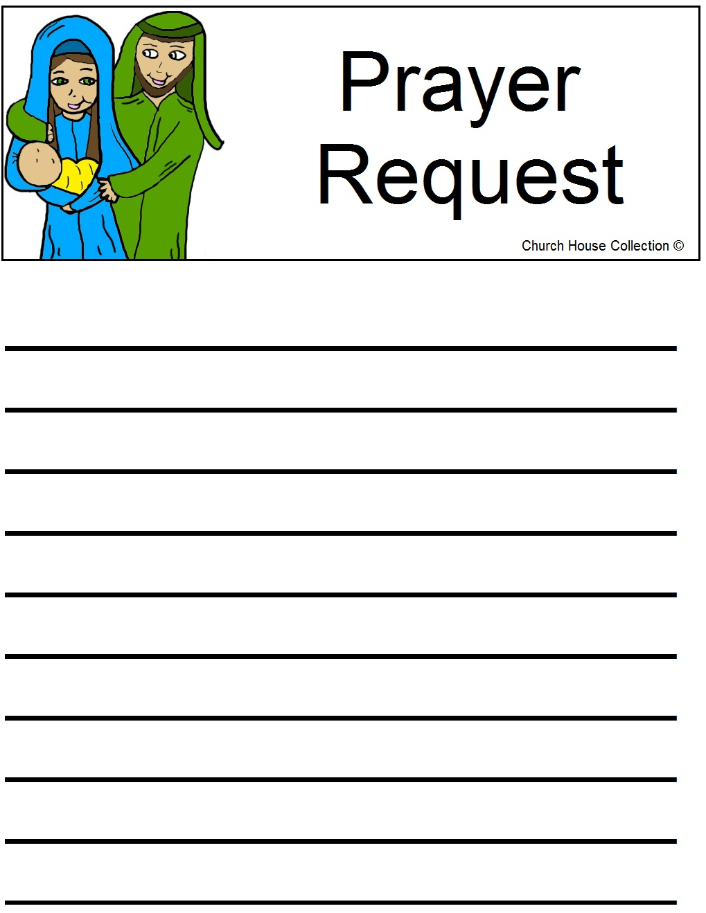 Prayer Request Cards Free Printable Sheet
