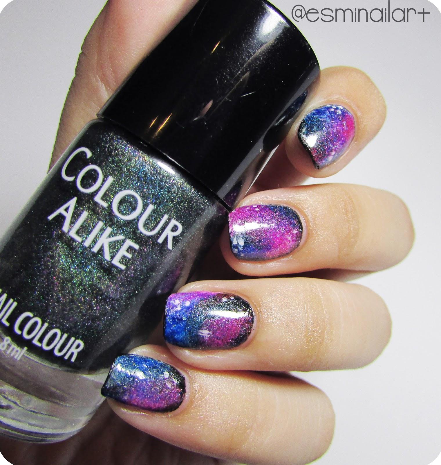 Galaxy Nails Tutorial: Mi Nail Art!: Galaxy Nails