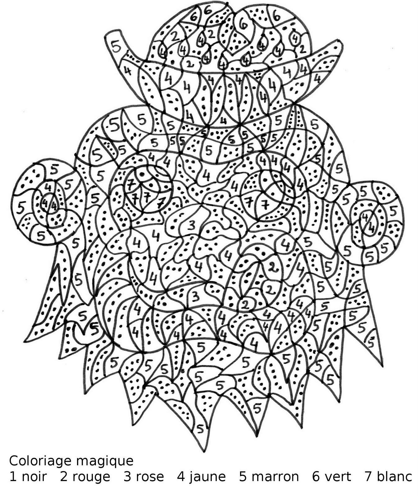 Maternelle coloriage magique maternelle un singe avec - Coloriage magique loup ...