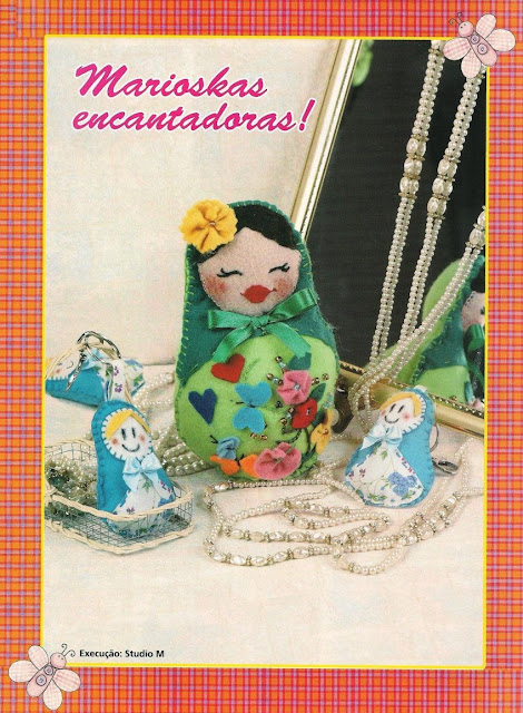 presents birthday and more: felt russian dolls