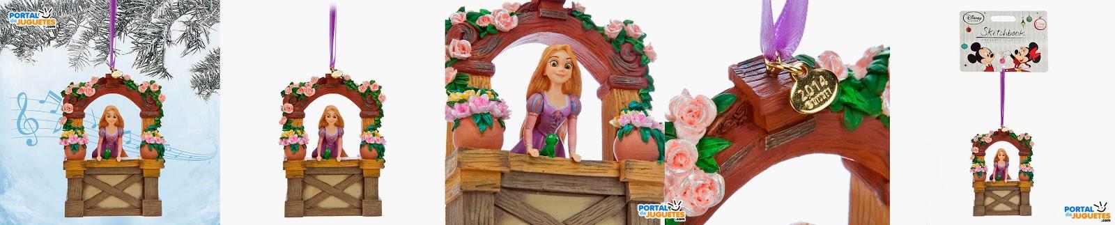 adorno navidad rapunzel musica enredados disney store