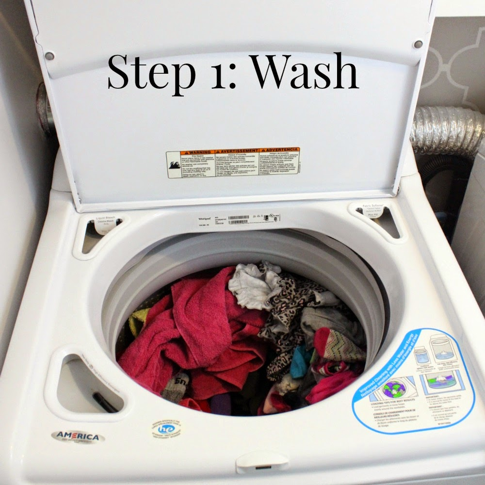 Put Clean Clothes Away ~ Shambray stay sane cleaning series step laundry