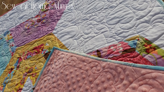 Sew at Home Mummy | Jelly Roll Quilt | Moda Coquette | Quilt for a little girl