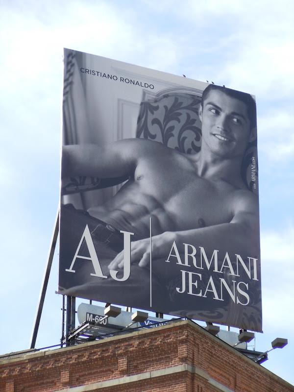 Cristiano Ronaldo Armani Jeans sixpack billboard