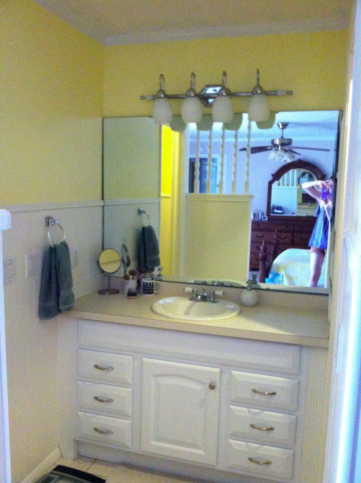 Vanity Lights Too Bright : Where s My Dream Life?: Updating Our Master Bathroom