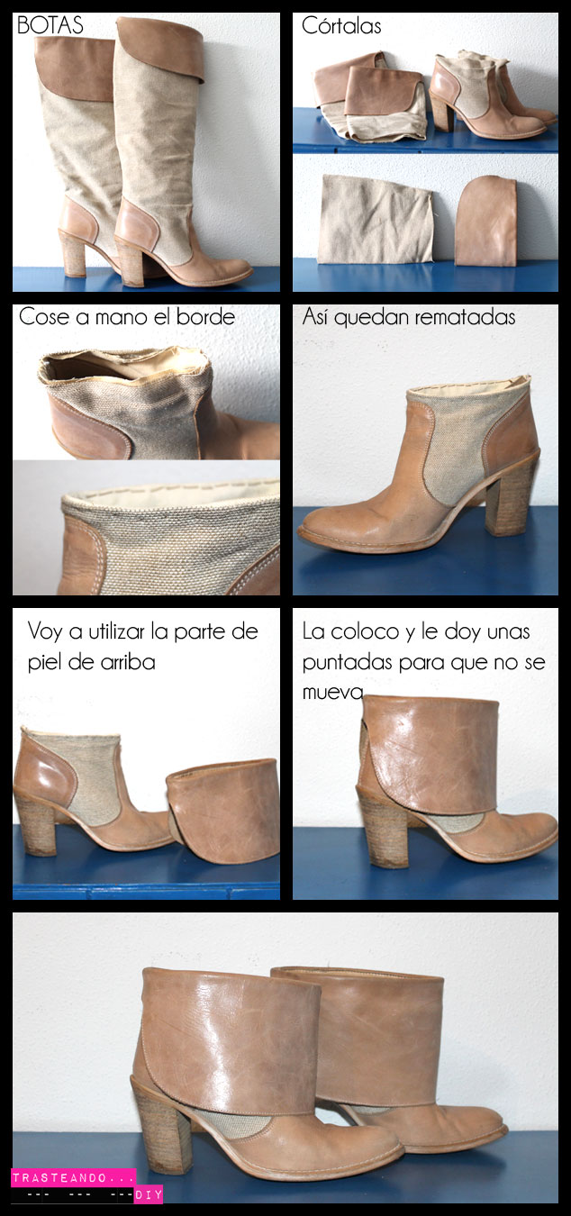 CORTAR BOTAS BOTINES DIY CRAFT HECHO A MANO CUSTOMIZACION