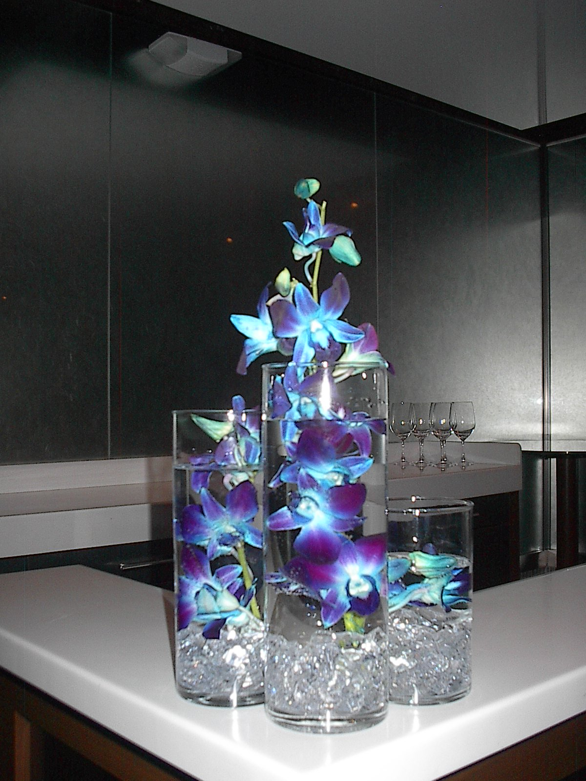 Blue Orchid Wedding Centerpieces Www Imgkid Com The