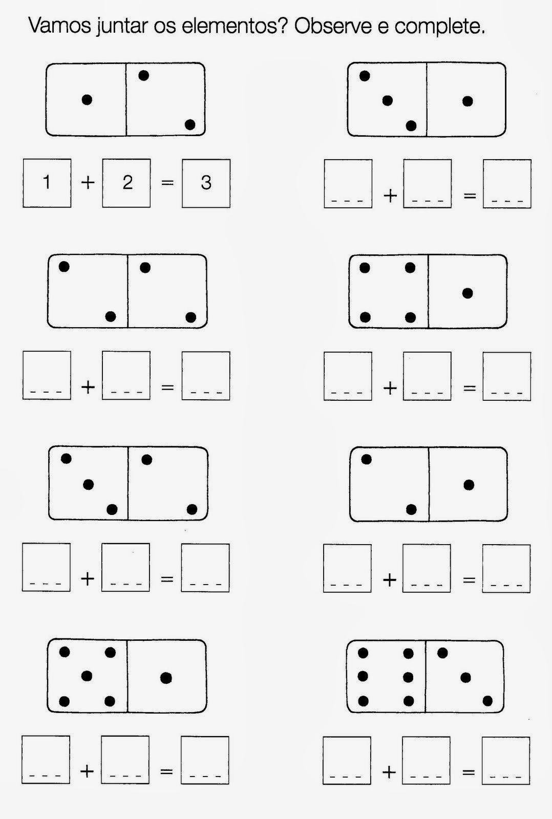 Atividades de matemática para 1 série