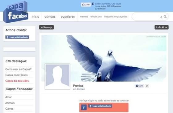 Site Capa para Facebook