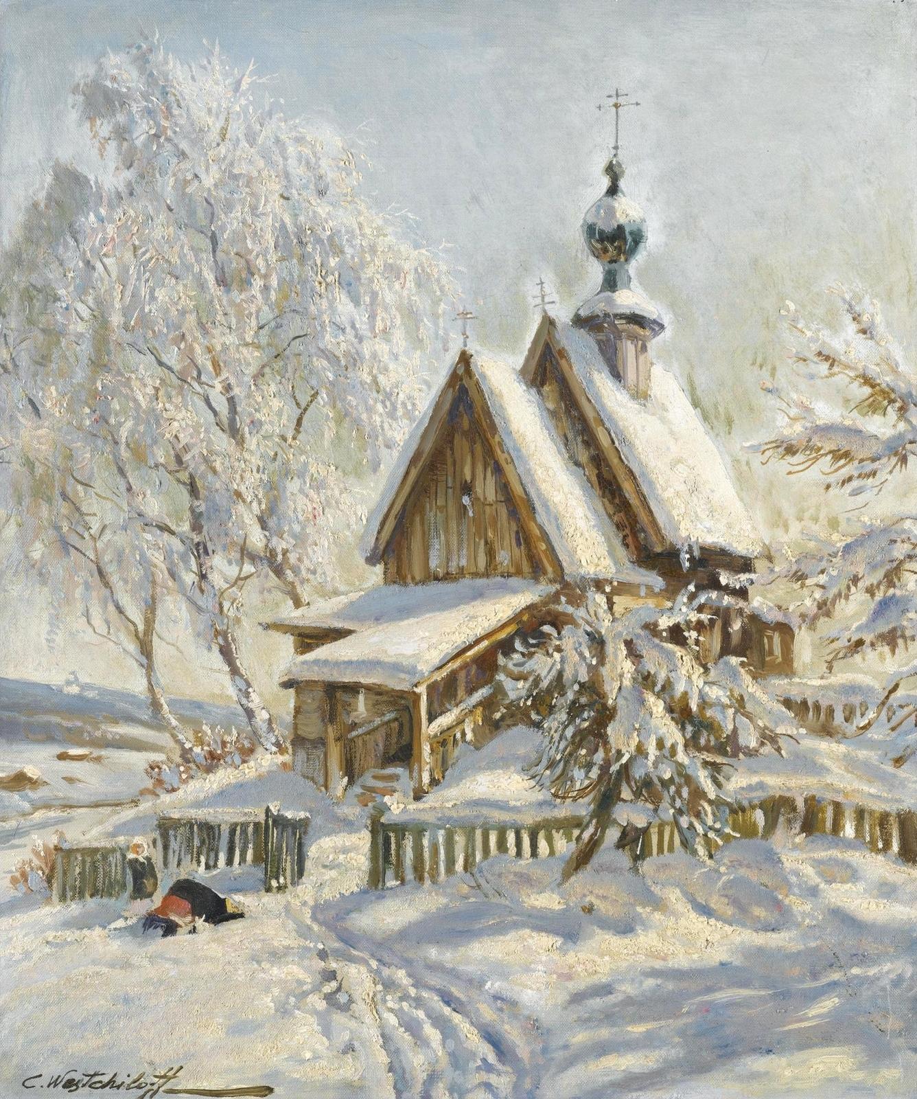 Фото старинных зимних пейзажев 3