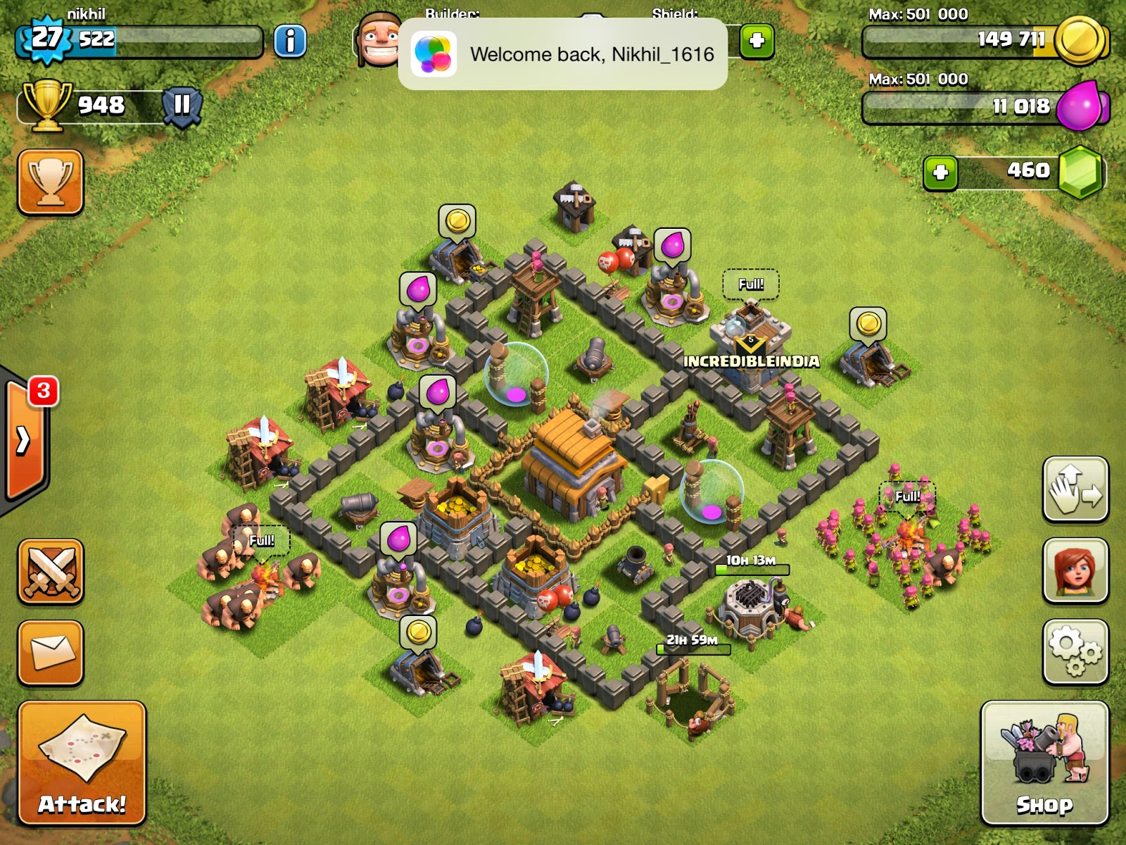 words of heart clash of clans town hall 5 upgrade base 5 loot gems
