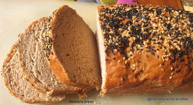 Semolina Bread, Baked, Baking, Bread, Rava Bread