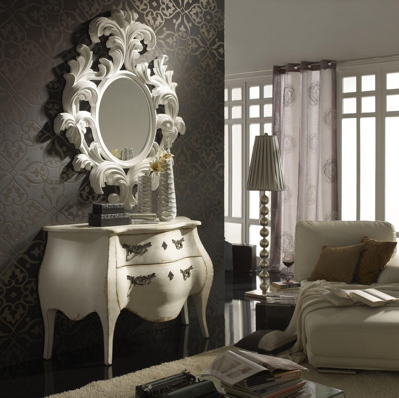 Ideas para redecorar tu hogar c moda y espejo en sal n - Muebles barrocos baratos ...