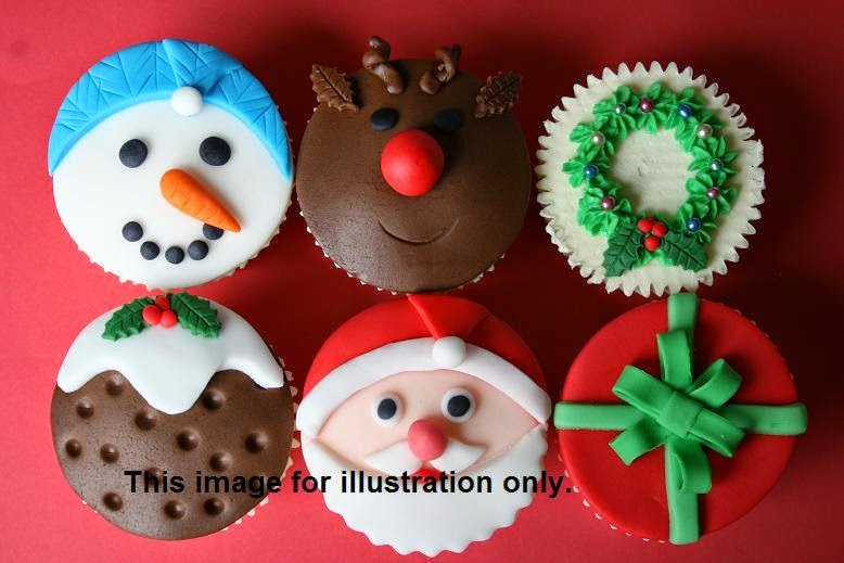 Christmas 2D Cupcakes & Gingerbread Man Cookies Class