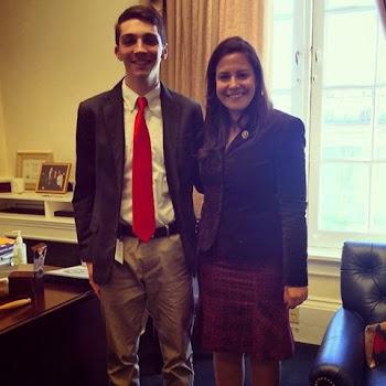 Rep. Stefanik Greets intern Noah to her DC Office