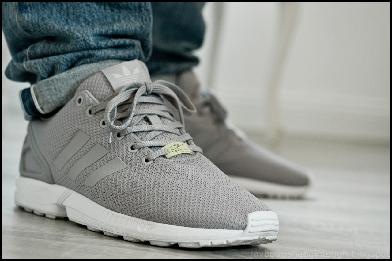 Adidas originals Zx Flux Smooth Sneakers Grey in Gray for Men Lyst